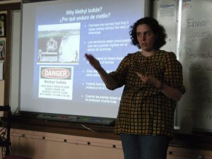 Dvera's first classroom debut: a workshop for Pajaro Valley middle school students, Dream Conference, 2011